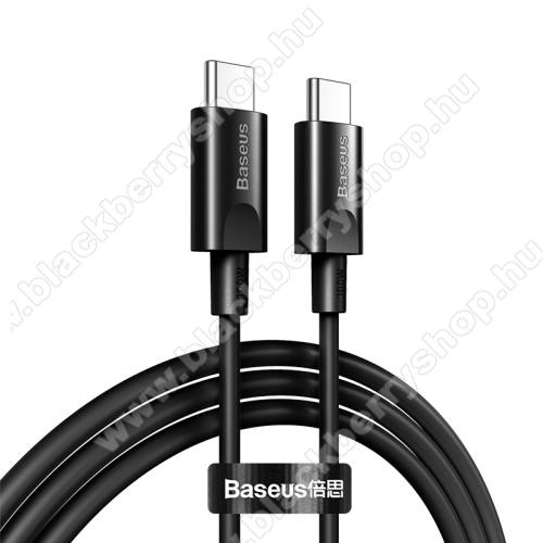 BASEUS XIAOBAI SERIES adatátviteli kábel / USB töltő - Type-C / Type-C, 1.5m hosszú, 5A, 100W, 480Mbps adatátviteli sebesség, PD gyorstöltés támogatás - FEKETE - GYÁRI