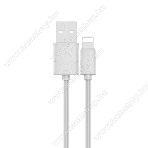 BASEUS YAVEN adatátviteli kábel / USB töltő  - USB / Lightning csatlakozás, 1m, 2.1A - FEHÉR - GYÁRI