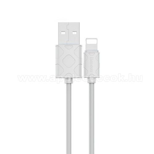 Apple AirPods Pro MWP22ZM/ABASEUS YAVEN adatátviteli kábel / USB töltő  - USB / Lightning csatlakozás, 1m, 2.1A - FEHÉR - GYÁRI