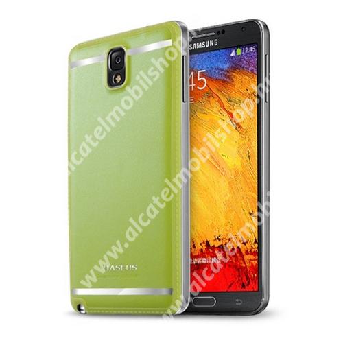 BASEUS YUPPIE bőr hátlap / akkufedél - ZÖLD - SAMSUNG SM-N9000/N9002/N9005 Galaxy Note 3