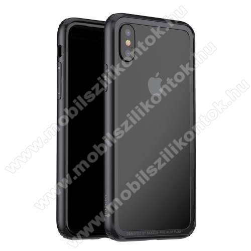 BASUES szilikon védő keret - BUMPER - FEKETE - APPLE iPhone X / APPLE iPhone XS