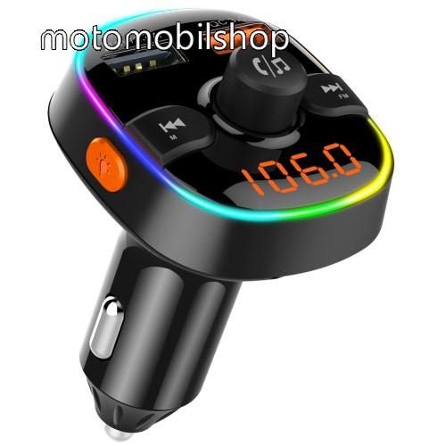 MOTOROLA MPX100 BC52 BLUETOOTH kihangosító szett - szivartöltőbe tehető, Bluetooth v.5.0+EDR, FM transmitterrel csatlakozik autórádióra, microSD kártya foglalat, EXTRA USB töltő aljzatok, 1 x 5V/2.4A (max), 1 x QC3.0 3.5V-6.5V / 3A, 6.5-9V / 2A, 9V-12V / 1.5A - FEKETE