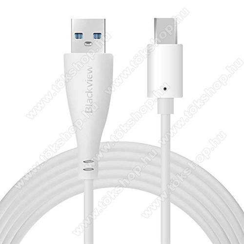 BLACKVIEW adatátviteli kábel / USB töltő - USB 3.1 Type C, 1m - FEHÉR - GYÁRI