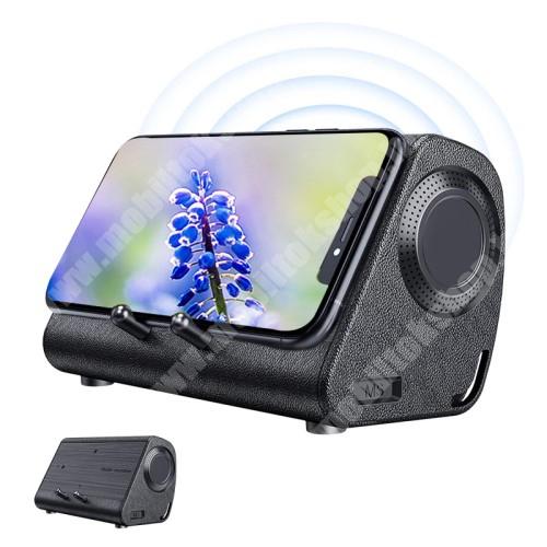 PRESTIGIO MultiPad 8.0 PRO DUO BLUEDIO MS hordozható bluetooth hangszóró / telefon tartó állvány / soundbar - 3W, indukciós nincs szükség Bluetoothra, beépített 650mAh akkumulátor, lejátszási idő kb. 6 óra - BARNA - 234 x 156 x 128mm