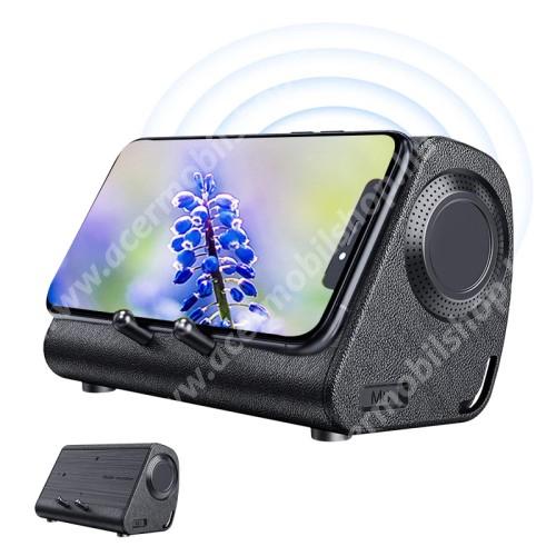 ACER Liquid Z3 BLUEDIO MS hordozható bluetooth hangszóró / telefon tartó állvány / soundbar - 3W, indukciós nincs szükség Bluetoothra, beépített 650mAh akkumulátor, lejátszási idő kb. 6 óra - BARNA - 234 x 156 x 128mm