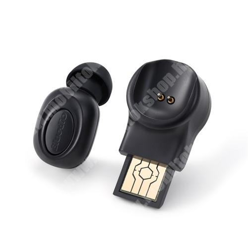 HUAWEI MediaPad M3 8.4 BLUEDIO T Talking mini bluetooth headset - FEKETE - V5.0, beépített mikrofon, fülbe dugható, beépített 60mAh akkumulátor - GYÁRI