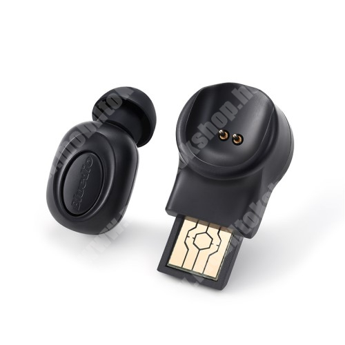 Elephone P3000 BLUEDIOT Talking mini bluetooth headset - FEKETE - V5.0, beépített mikrofon, fülbe dugható, beépített 60mAh akkumulátor - GYÁRI