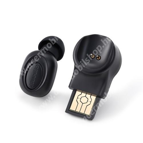 BLUEDIOT Talking mini bluetooth headset - FEKETE - V5.0, beépített mikrofon, fülbe dugható, beépített 60mAh akkumulátor - GYÁRI