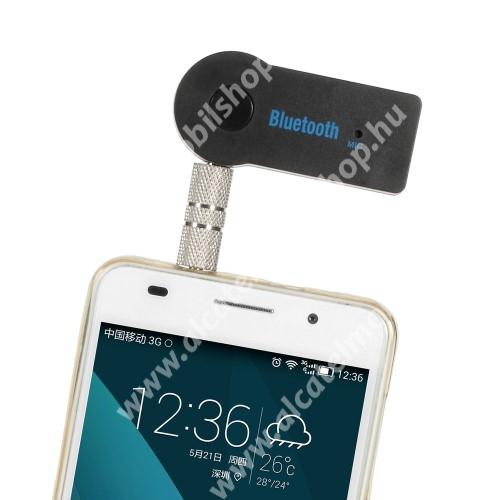 ALCATEL Idol 3C Bluetooth audio adapter - 3,5mm jack csatlakozóba illeszthető, MINI! - FEKETE