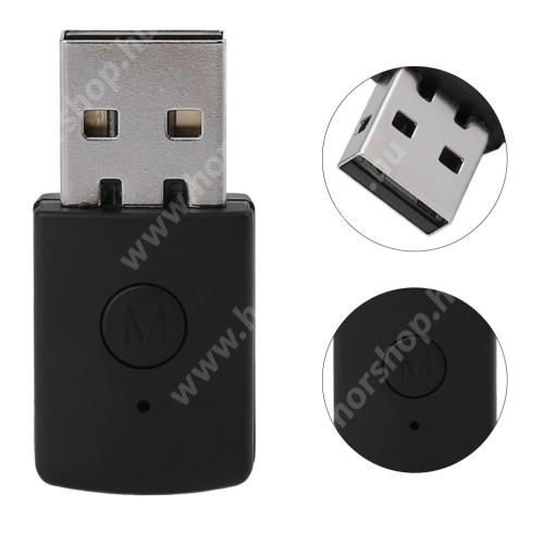 HUAWEI Honor V40 5G Bluetooth audio vevő adapter - V4.0, 3.5mm jack csatlakozóba illeszthető - FEKETE