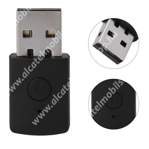 Bluetooth audio vevő adapter - V4.0, 3.5mm jack csatlakozóba illeszthető - FEKETE