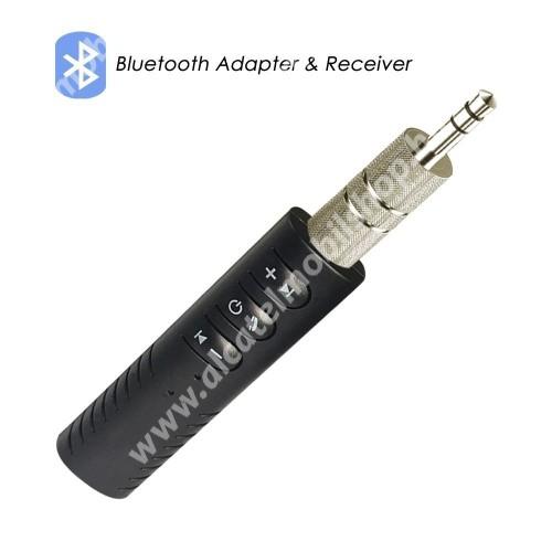 ALCATEL Idol 3C Bluetooth audio vevő adapter - V4.1, 3,5mm jack csatlakozóba illeszthető, 60mAh beépített akkumulátor  - FEKETE