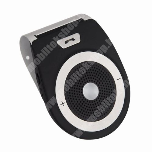 ALCATEL A30 BLUETOOTH kihangosító szett - napellenzőre rögzíthető, szivargyújtós töltővel, beépített 1000mA akkumulátor, hordozható, Bluetooth 4.1 +EDR, multipoint, egyszerre 2 különböző telefonnal használható! - FEKETE