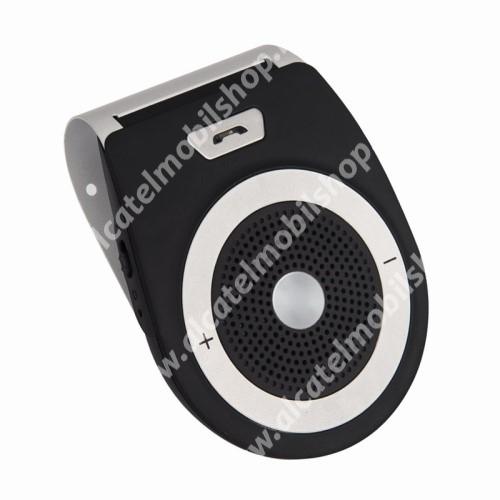 ALCATEL OT 800 Tribe BLUETOOTH kihangosító szett - napellenzőre rögzíthető, szivargyújtós töltővel, beépített 1000mA akkumulátor, hordozható, Bluetooth 4.1 +EDR, multipoint, egyszerre 2 különböző telefonnal használható! - FEKETE