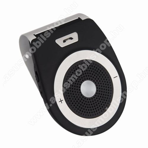 ASUS Zenfone 2 Laser (ZE500KL)BLUETOOTH kihangosító szett - napellenzőre rögzíthető, szivargyújtós töltővel, beépített 1000mA akkumulátor, hordozható, Bluetooth 4.1 +EDR, multipoint, egyszerre 2 különböző telefonnal használható! - FEKETE