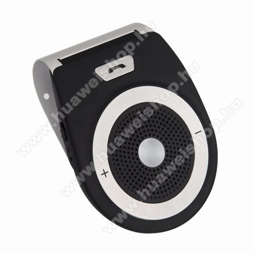HUAWEI Mate 10BLUETOOTH kihangosító szett - napellenzőre rögzíthető, szivargyújtós töltővel, beépített 1000mA akkumulátor, hordozható, Bluetooth 4.1 +EDR, multipoint, egyszerre 2 különböző telefonnal használható! - FEKETE