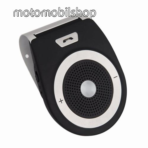 Motorola Moto G8 Play BLUETOOTH kihangosító szett - napellenzőre rögzíthető, szivargyújtós töltővel, beépített 1000mA akkumulátor, hordozható, Bluetooth 4.1 +EDR, multipoint, egyszerre 2 különböző telefonnal használható! - FEKETE