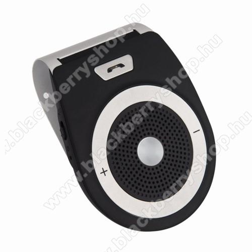 BLUETOOTH kihangosító szett - napellenzőre rögzíthető, szivargyújtós töltővel, beépített 1000mA akkumulátor, hordozható, Bluetooth 4.1 +EDR, multipoint, egyszerre 2 különböző telefonnal használható! - FEKETE