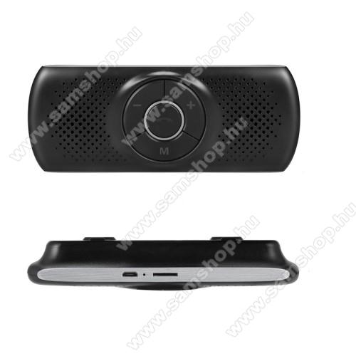 BLUETOOTH kihangosító szett - napellenzőre rögzíthető, hordozható, Bluetooth V4.1+EDR, beépített mikrofon, zajszűrő, 500mAh akkumulátor, egyszerre 2 különböző telefonnal használható! - FEKETE