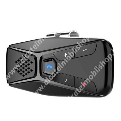 ALCATEL OT 800 Tribe BLUETOOTH kihangosító szett - napellenzőre rögzíthető, hordozható, Bluetooth V5.0+EDR, beépített mikrofon, 500mAh akkumulátor, 20óra használati idő, automatikus csatlakozás, egyszerre 2 különböző telefonnal használható! - FEKETE