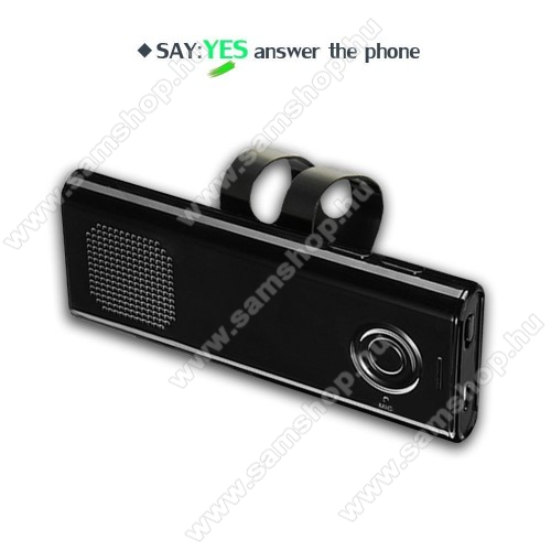 SAMSUNG GT-E2152BLUETOOTH kihangosító szett szivargyújtós töltővel - napellenzőre rögzíthető, hordozható, Bluetooth V4.1+EDR, beépített mikrofon, 650mAh akkumulátor, egyszerre 2 különböző telefonnal használható! - FEKETE - 130 x 50 x 15mm