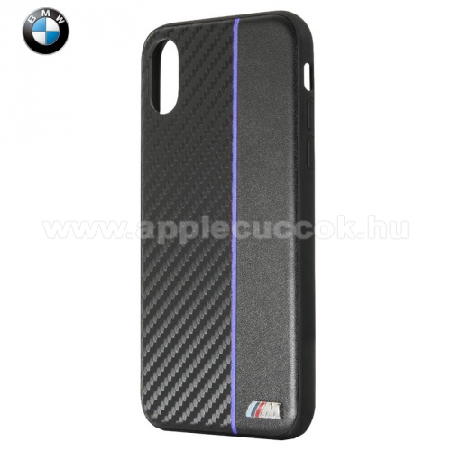 APPLE iPhone XS BMW M m?anyag v�d?tok (b?r h�tlap, karbon minta) FEKETE - BMHCPXCAPNBK - Apple iPhone X 5.8, Apple iPhone XS 5.8 - GY�RI