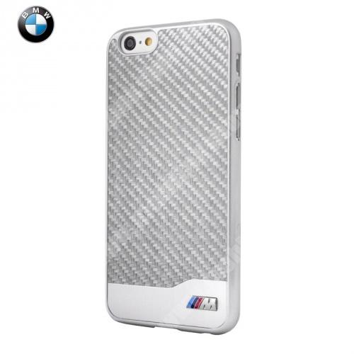 BMW SIGNATURE alumínium védő tok / hátlap - karbon mintás - BMHCP6LMDCS - EZÜST - APPLE iPhone 6 Plus - GYÁRI
