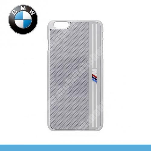 BMW SIGNATURE alumínium védő tok / karbon mintás hátlap - EZÜST - BMHCP6LMES - APPLE iPhone 6 Plus - GYÁRI