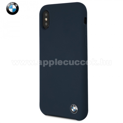 APPLE iPhone XS BMW SIGNATURE szilikon v�d? tok / h�tlap (ultrav�kony) S�T�TK�K - BMHCPXSILNA - Apple iPhone X 5.8, Apple iPhone XS 5.8 - GY�RI