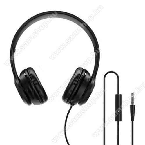 BOROFONE BO5 BROAD sztereó fejhallgató / headset - 3,5mm Jack, mikrofon, felvevõ gomb, 40mm hangszóró, 2x 15mW, 1,2m hosszú vezeték - FEKETE