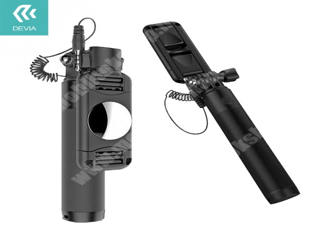 Elephone P3000 DEVIA állítható kézi szelfibot, selfie bot (3.5mm jack csatlakozó, távkioldó exponáló gomb, 14-69mm hosszú nyél) FEKETE - 993733 - GYÁRI