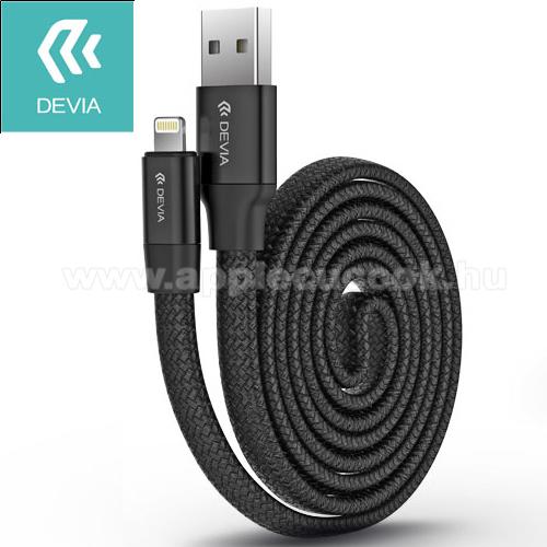 Apple iPad mini (2019)DEVIA Apple Lightning adatátvitel adatkábel és töltõ - 80cm hosszú, MFI engedélyes - FEKETE