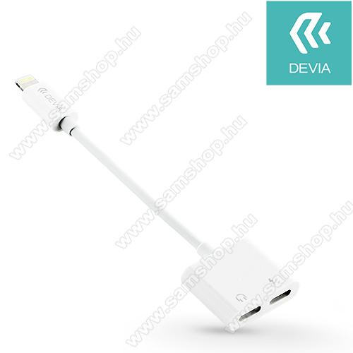 DEVIA audio adapter - Lightning / Lightning - egyidőben történő töltéshez és zenehallgatáshoz - FEHÉR  - GYÁRI