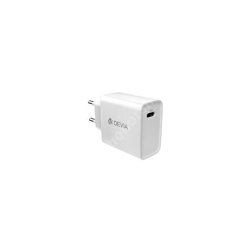 HUAWEI Honor V40 5G Devia hálózati töltő - 1 x USB Type C aljzattal, PD3.0, 5V/3A; 9V/2.2A; 12V/1.67A, 20W gyorstöltés támogatás, kábel nélkül! - FEHÉR - GYÁRI