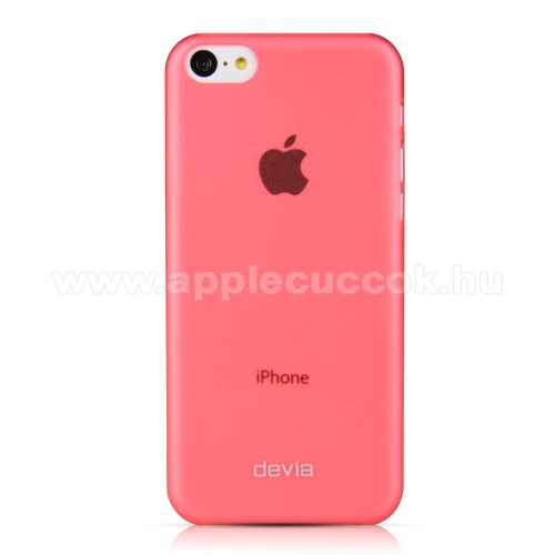 APPLE IPhone 5C DEVIA ultravékony műanyag védő tok / hátlap - PIROS - APPLE IPhone 5C