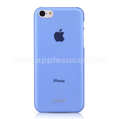 APPLE IPhone 5C DEVIA ultravékony műanyag védő tok / hátlap - KÉK - APPLE IPhone 5C
