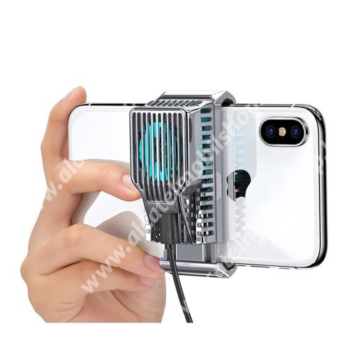 """DIVI UNIVERZÁLIS telefonhűtő - világít (kék led), 43g, 30 dBA, 4-7""""-os készülékekkel kompatibilis, 78.5 x 35.2 x 37.2mm - EZÜST"""