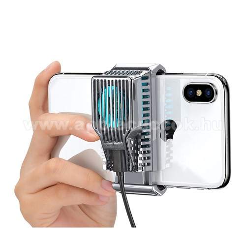 DIVI UNIVERZÁLIS telefonhűtő - világít (kék led), 43g, 30 dBA, 4-7