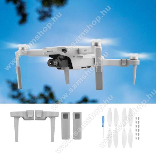 DJI Mavic Mini / Mini 2 propeller szett / magasság növelő állvány - csavarral, 30mm-rel növelhető  a magasság - FEHÉR
