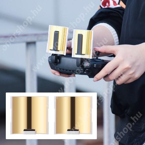 HUAWEI Honor V40 5G DJI Mavic Mini táviránytó antenna jelerősítő - 2db, tükrös hatású, 60 x 60 x 29 mm - FEKETE