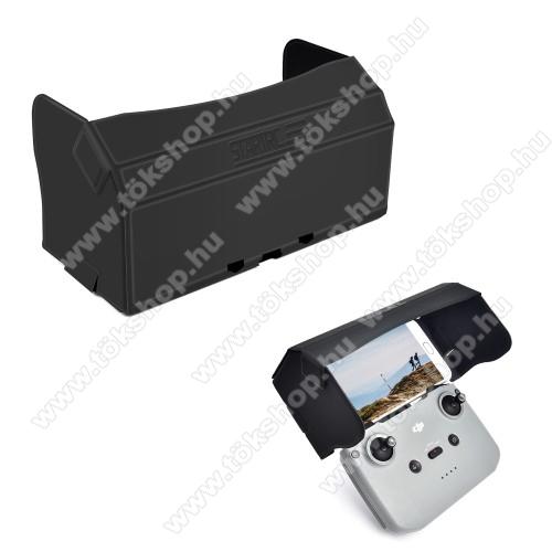 DJI Mini 2 / Mavic Air 2 / Air 2S modellekhez PU bőr napellenző - összecsukható, mágneses, 182mm x 101mm x 10mm  - FEKETE