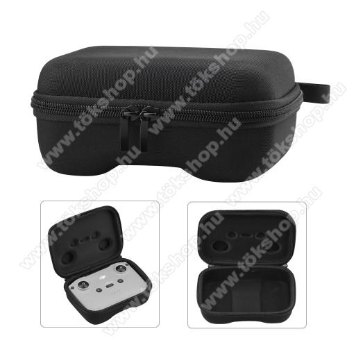 DJI Mini 2 / Mavic Air 2 / Air 2S modellekhez távirányító tartó / hordozó táska - ütődésálló, cipzár, 170 x 130 x 70mm - ERŐS VÉDELEM! - FEKETE