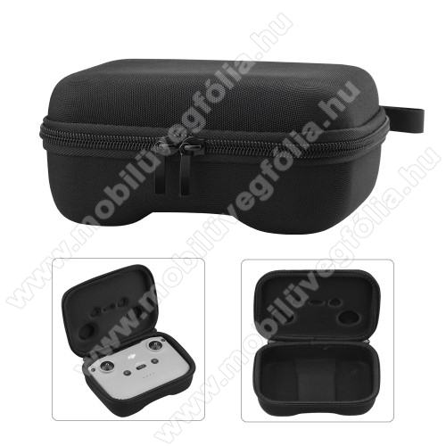 DJI Mavic Air 2DJI Mini 2 / Mavic Air 2 / Air 2S modellekhez távirányító tartó / hordozó táska - ütődésálló, cipzár, 170 x 130 x 70mm - ERŐS VÉDELEM! - FEKETE