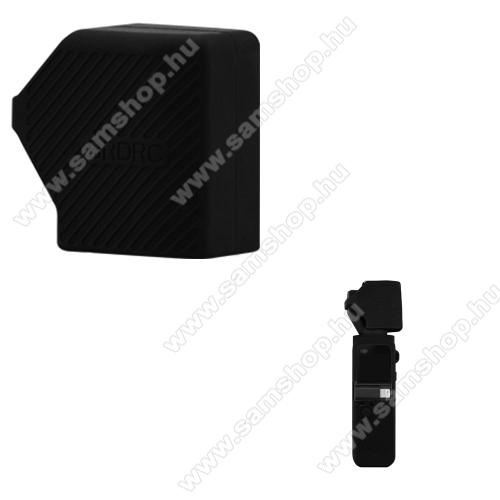 DJI OSMO Pocket 2 szilikon kamera védőburkolat / kupak - porvédő, szállítás közben védi a karcoktól,  40 x 35 x 22 mm - FEKETE