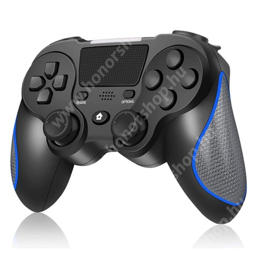 HUAWEI Honor V40 5G DS8 UNIVERZÁLIS Kontroller / Joystick - Bluetooth csatlakozás, FPS játékokhoz, gamepad, AUX, beépített hangszóró, beépített 400mAh akkumulátor, 6 óra játékidő, kettős rezgés, PS4 és PC-vel is kompatibilis - FEKETE / KÉK
