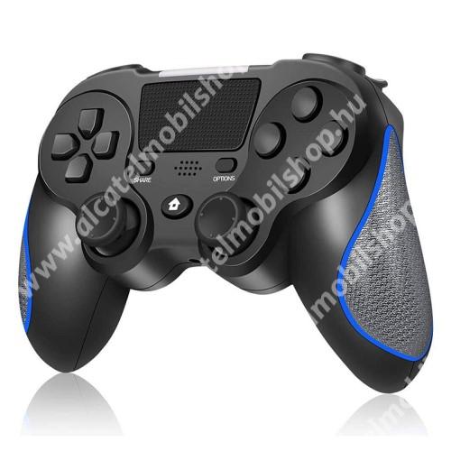 ALCATEL OT-208 DS8 UNIVERZÁLIS Kontroller / Joystick - Bluetooth csatlakozás, FPS játékokhoz, gamepad, AUX, beépített hangszóró, beépített 400mAh akkumulátor, 6 óra játékidő, kettős rezgés, PS4 és PC-vel is kompatibilis - FEKETE / KÉK