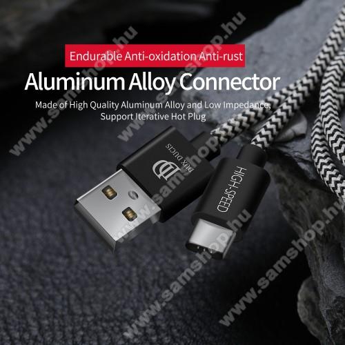 SAMSUNG Galaxy A8 Star (SM-G885F)DUX DUCIS adatátviteli kábel / USB töltő - USB 3.1 Type C, 25cm, 2,1A töltőáram átvitelre képes! - FEKETE