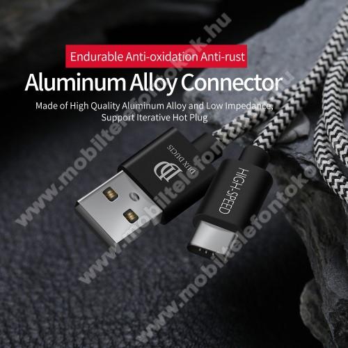 Motorola Moto Z4DUX DUCIS adatátviteli kábel / USB töltő - USB 3.1 Type C, 25cm, 2,1A töltőáram átvitelre képes! - FEKETE