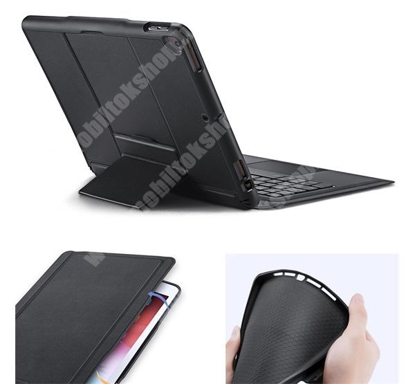 DUX DUCIS notesz / mappa tok - FEKETE - oldalra nyíló, mágneses záródás, asztali tartó funkció, ceruzatartó, kivehető bluetooth billentyűzet (ANGOL KIOSZTÁSÚ!), szilikon belső - APPLE iPad 10.2 (7th Generation) (2019) / (2020) / Pro 10.5 (2017) / Air 2019