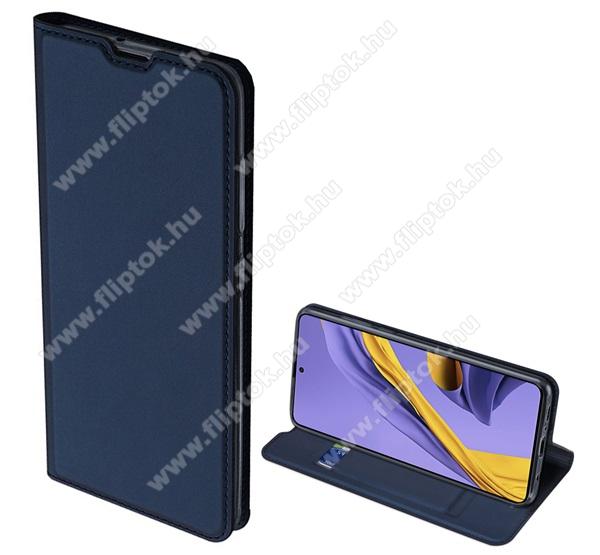 DUX DUCIS Skin Pro Series slim design notesz / mappa tok - SÖTÉTKÉK - oldalra nyíló flip cover, asztali tartó funkció, szilikon belső, mágneses záródás - SAMSUNG SM-A715F Galaxy A71 - GYÁRI